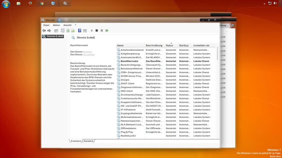 Microsoft, Betriebssystem, Windows, SemperVideo, Dienste, Services