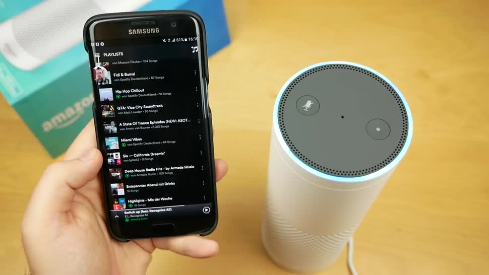 Amazon, Sprachassistent, Alexa, Lautsprecher, Amazon Echo, Assistent, Daniil Matzkuhn, Unboxing