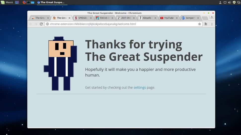 Google, Chrome, SemperVideo, Arbeitsspeicher, Plugin, The Great Suspender