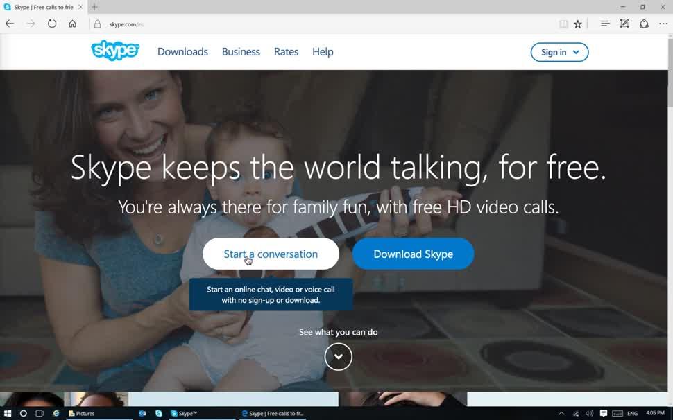 Microsoft, Skype, Voip, Telefonie, Videotelefonie, Skype VoIP, Skype Videotelefonie, Skype Videochat, Skype For Web, gast
