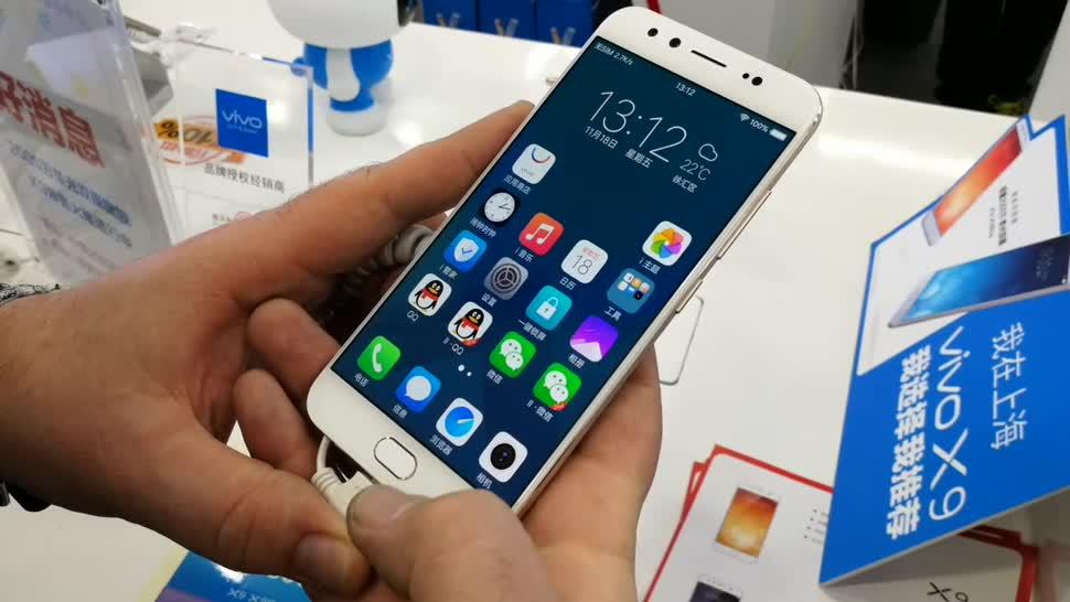 Smartphone, Android, China, Hands-On, Phablet, Mittelklasse, Vivo, Frontkamera, Blur, BBK, Vivox 9, Vivo 9X, Vivo 9X Plus, Dual-Frontkamera