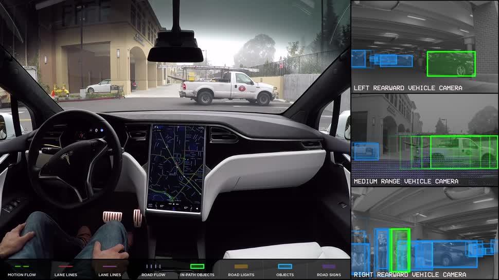 Autos, tesla, Technik, Autopilot, Erkennungssoftware, Fußgängern