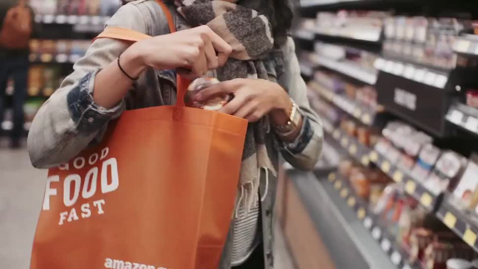 Amazon, Geschäft, shopping, Laden, Einkauf, Retail, Einkaufen, Amazon GO, Lebensmittelgeschäft