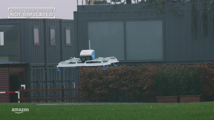 Amazon, Großbritannien, Lieferung, Drohne, Auslieferung, Uk, Amazon Prime Air