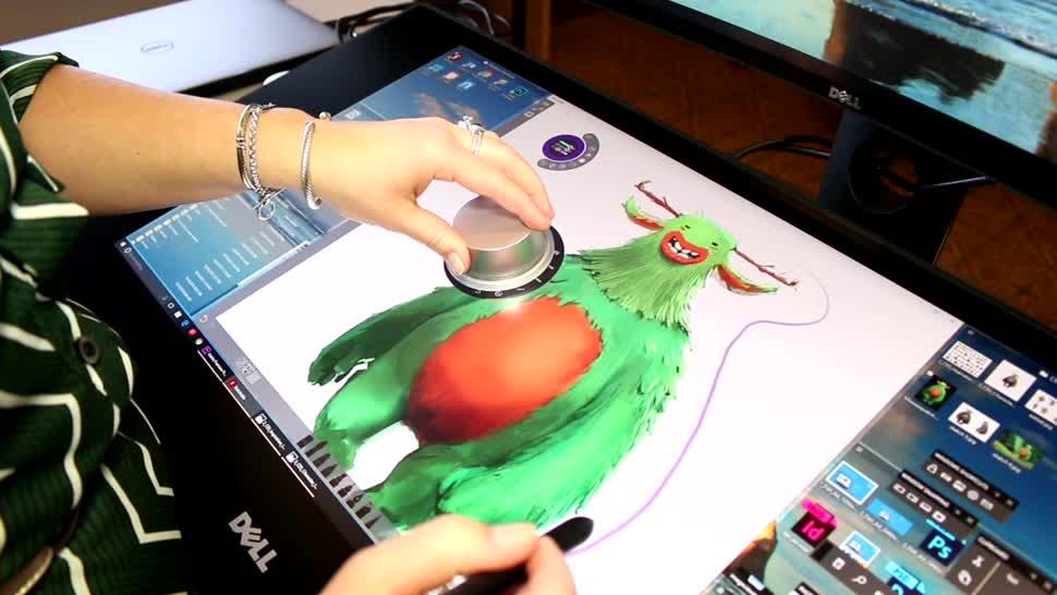 Ces, Dell, Stylus, Monitor, CES 2017, Surface Studio, Dell Canvas