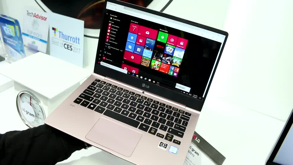 Video, Notebook, Laptop, LG, Hands-On, Hardware, Akku, Ces, Hands on, Ultrabook, CES 2017, Laptops, USB Typ-C, gram, Windows10