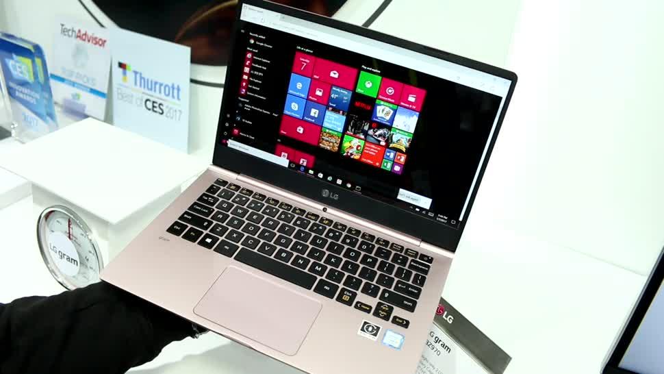Video, Notebook, Laptop, LG, Hardware, Hands-On, Akku, Ces, Hands on, Ultrabook, Laptops, CES 2017, USB Typ-C, gram, Windows10
