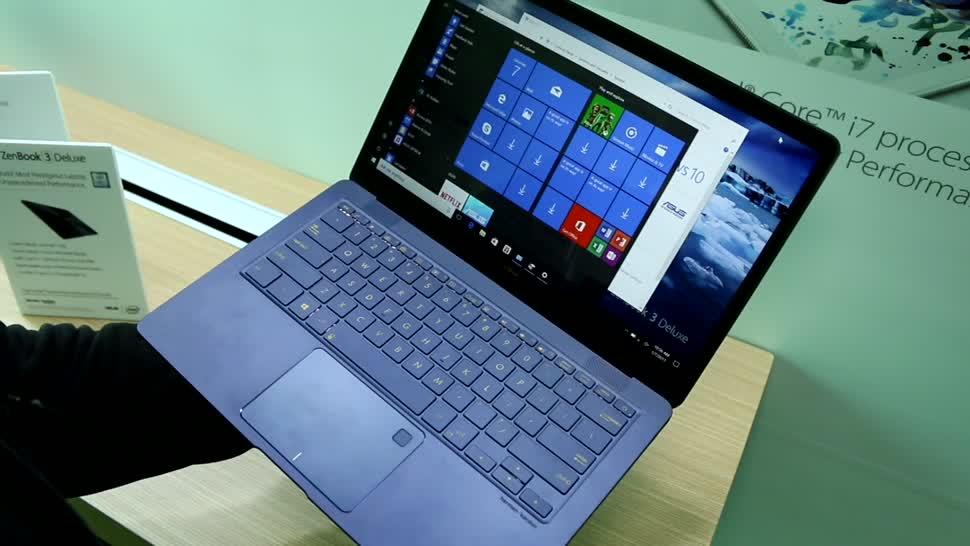 Notebook, Asus, Hands-On, Ces, Ultrabook, CES 2017, ZenBook, ZenBook 3 Deluxe