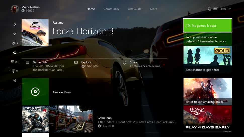 Microsoft, Xbox, Xbox One, Microsoft Xbox One, Creators Update, Windows 10 Creators Update, Dashboard