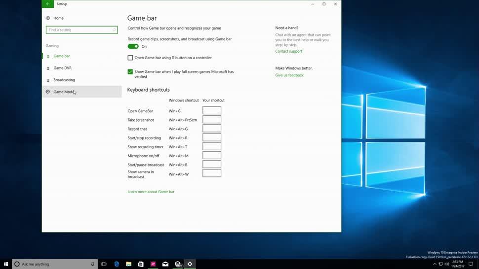 Microsoft, Betriebssystem, Windows 10, Windows, Game Mode