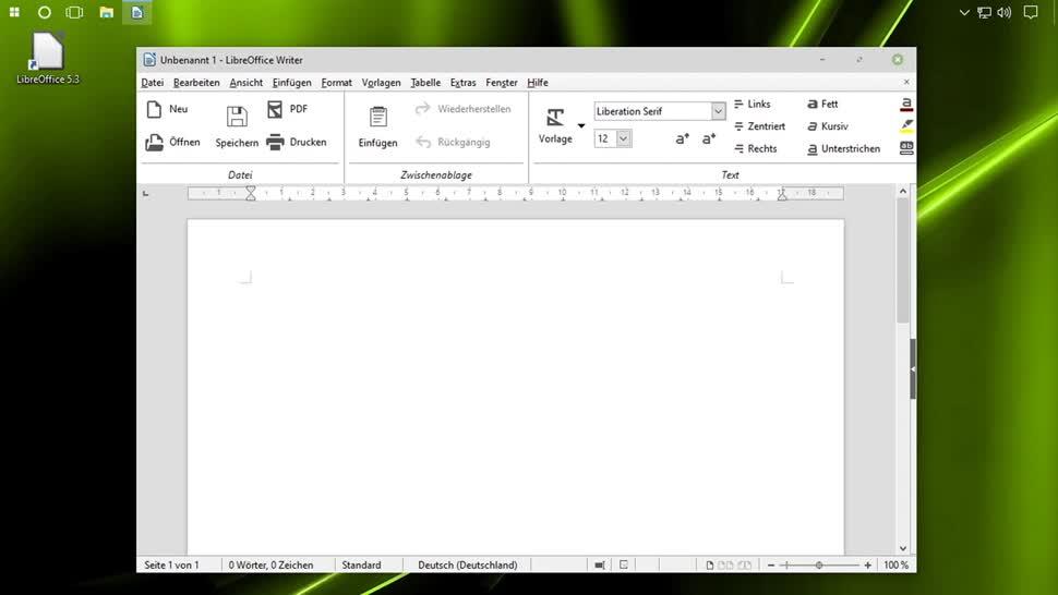 Office, SemperVideo, Ribbon, Libreoffice, Ribbon Interface, Muffin