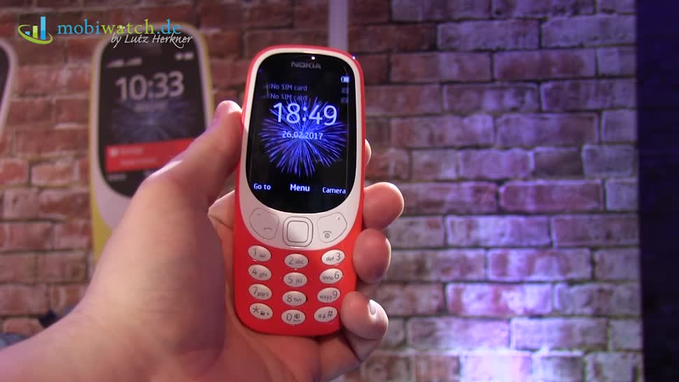 Smartphone, Nokia, Hands-On, Mwc, Hands on, Mobile World Congress, Lutz Herkner, MWC 2017, Nokia 3310, Mobiwatch