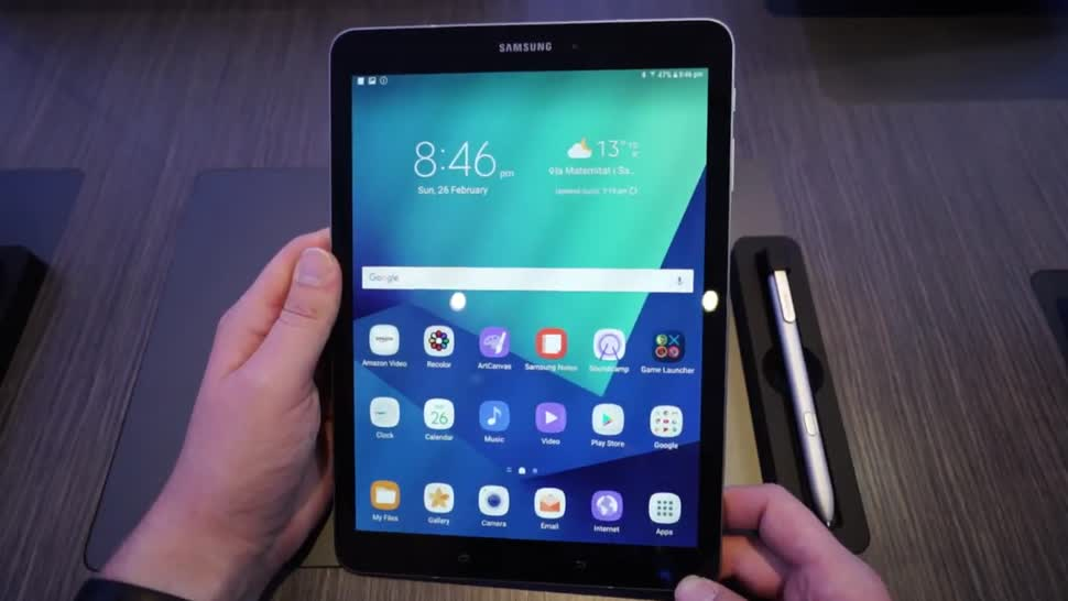 samsung galaxy tab s3 neues tablet mit s pen im hands on. Black Bedroom Furniture Sets. Home Design Ideas