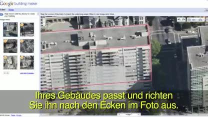 Google, Google Earth, Gebäudeerstellungstool