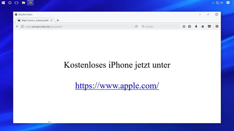 Sicherheit, Web, SemperVideo, Phishing, Domain, Unicode, Punicode