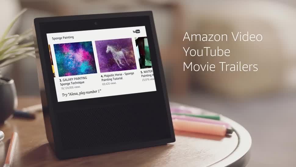 Amazon, Sprachassistent, Sprachsteuerung, Lautsprecher, Alexa, Spracheingabe, Amazon Echo, Echo, Amazon Echo Show, Echo Show