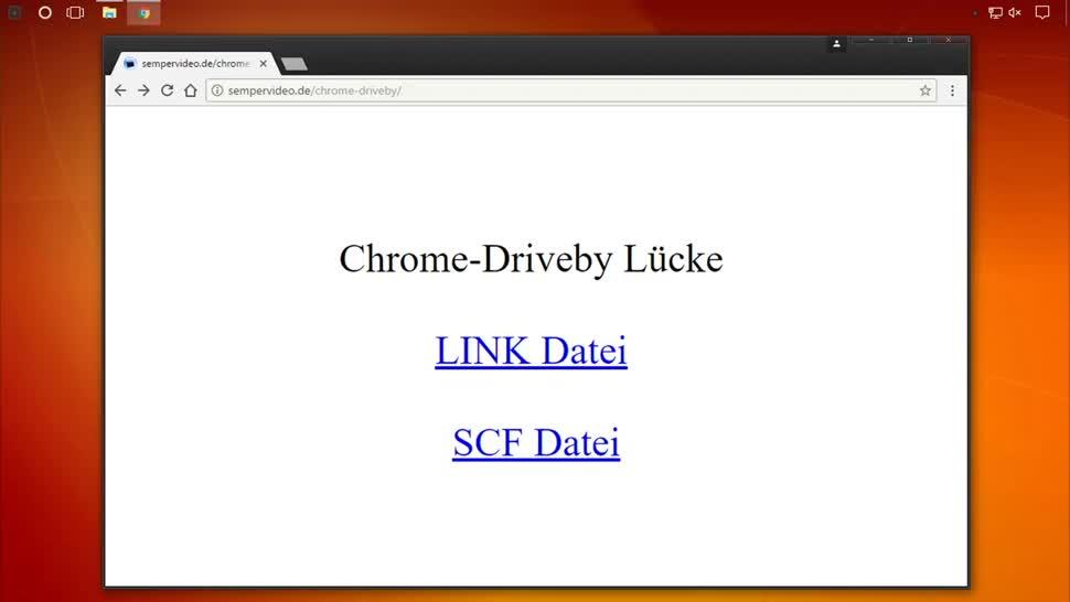 Windows, Sicherheit, Chrome, SemperVideo, SCF