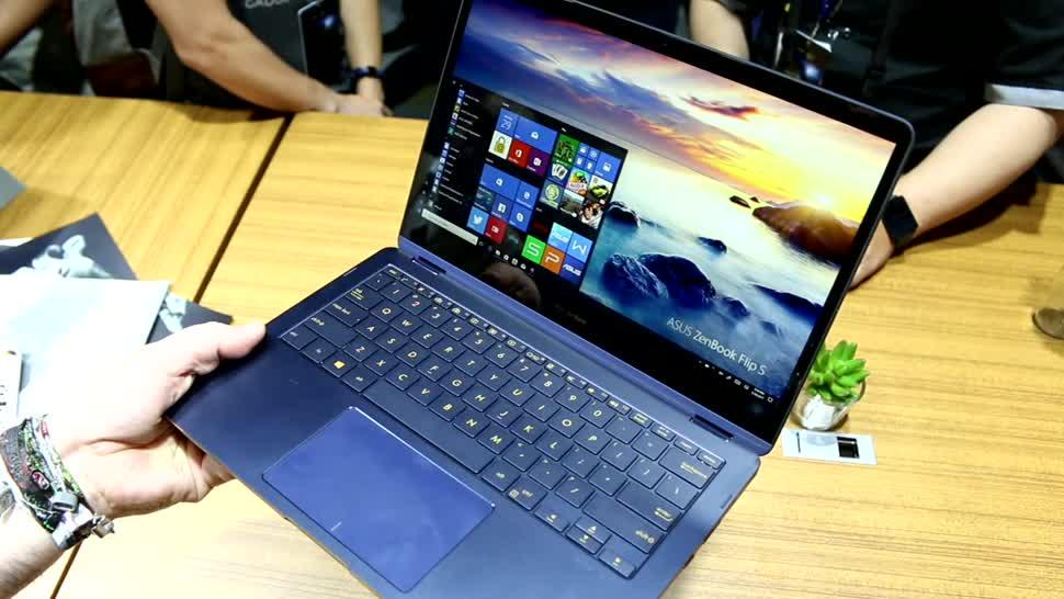 Notebook, Asus, Computex, Convertible, Computex 2017, ZenBook Flip S