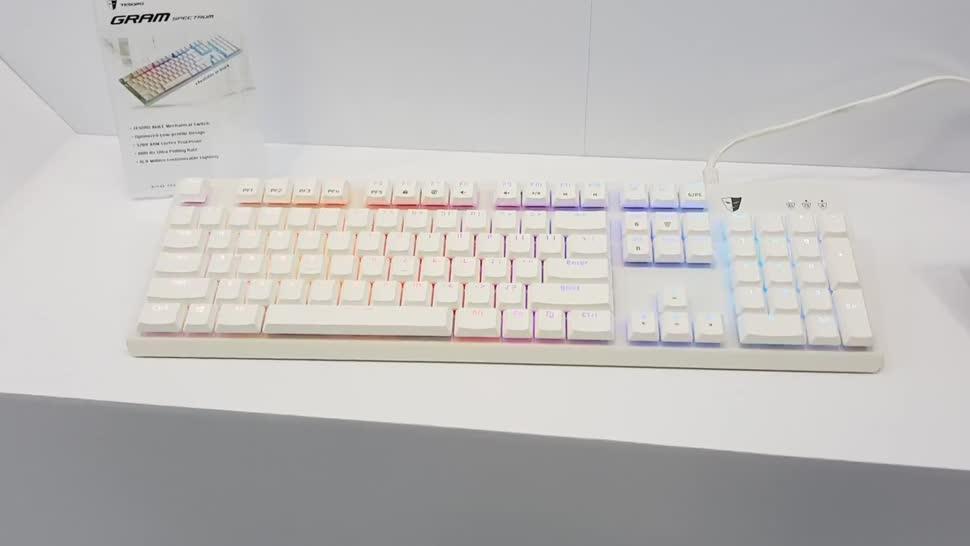 Tastatur, Computex, NewGadgets, Johannes Knapp, Computex 2017, Stuhl, Tesoro, Tesoro Gram Spectrum, Gram Spectrum, Tesoro Zone Evolution Gaming Chair, Tesoro Tizona Spectrum, Tizona Spectrum