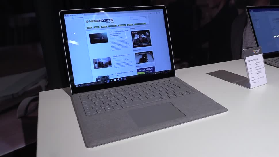 Microsoft, Notebook, Surface, Laptop, Microsoft Surface, NewGadgets, Johannes Knapp, Windows 10 S, Surface Laptop