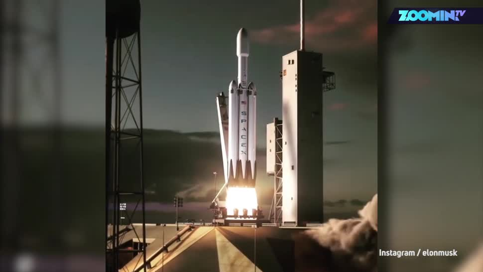 Forschung, Zoomin, Weltraum, Raumfahrt, Elon Musk, Spacex, Rakete, Heavy Falcon