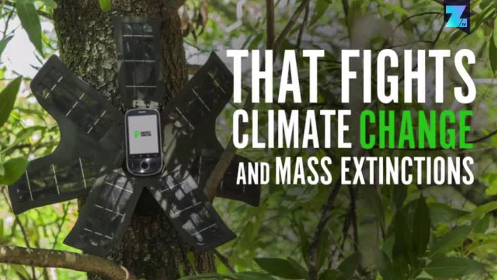 Smartphone, Zoomin, Kickstarter, Crowdfunding, Naturschutz, Klimawandel, Rainforest Connection