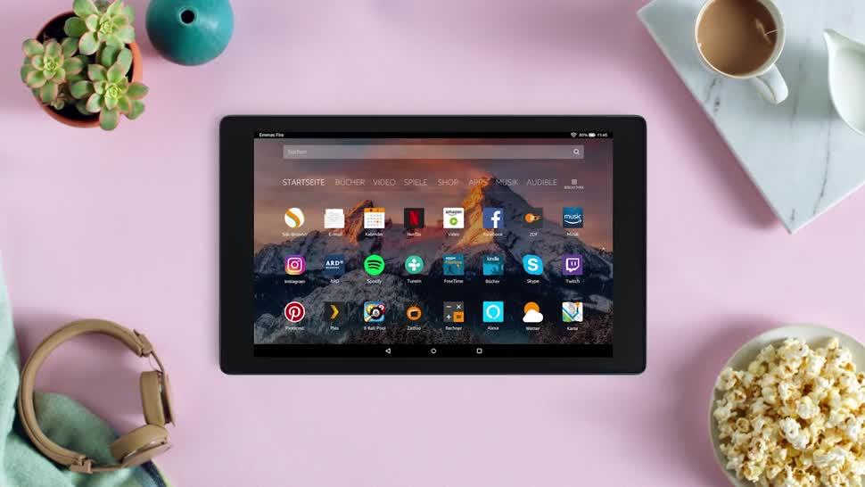 Android, Tablet, Amazon, Sprachassistent, Sprachsteuerung, Spracherkennung, Alexa, Spracheingabe, Amazon Fire, Amazon Fire HD 10, Fire HD 10