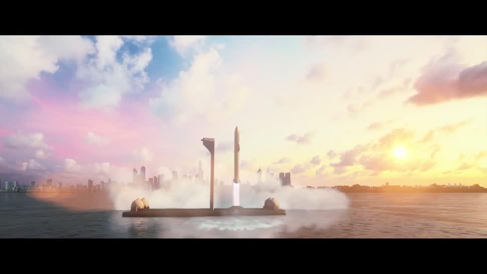 Forschung, Weltraum, Raumfahrt, Elon Musk, Spacex, Rakete, Big Fucking Rocket