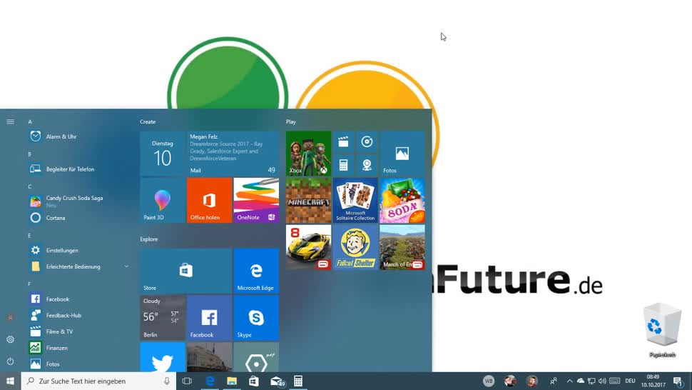 Microsoft, Betriebssystem, Windows, Windows 10, Update, Windows Update, Windows 10 Fall Creators Update, Features, Funktionen, Windows 10 Herbst Update, Markus Kasanmascheff