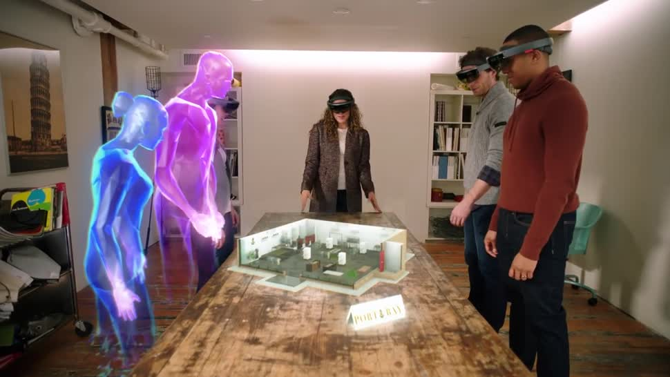 Microsoft, VR, Augmented Reality, Augmented-Reality, HoloLens, Datenbrille, VR-Brille, Microsoft HoloLens, Windows Holographic, Windows Mixed Reality, Hologramm, AR-Brille