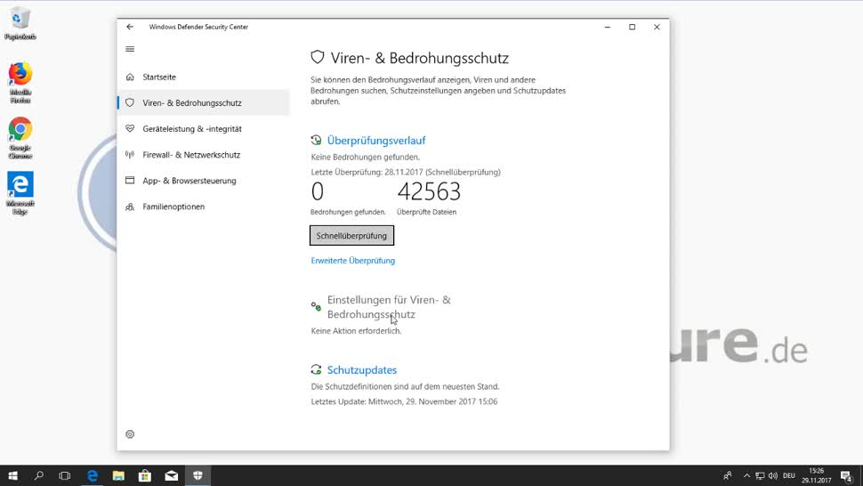 Microsoft, Betriebssystem, Windows 10, Windows 10 Fall Creators Update, Windows Defender, Markus Kasanmascheff, Exploits, Windows Defender Security Center, Exploit Guard, Exploit-Schutz, Attack Surface Reduction, Netzwerkschutz, Kontrollierter Ordnerzugriff