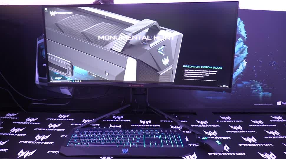Ces, Acer, Monitor, NewGadgets, Johannes Knapp, CES 2018, Acer Predator, Acer Predator X34, Predator X34