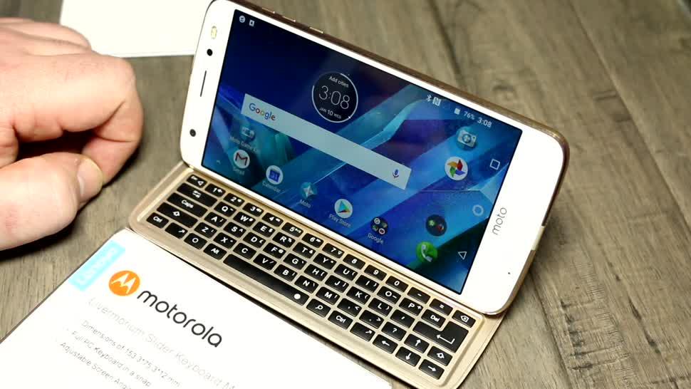 Motorola, Ces, Tastatur, Mod, CES 2018, Moto Z, Slider Keyboard Moto Mod