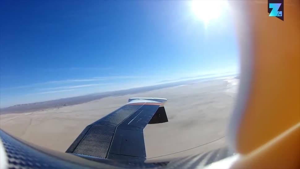 Forschung, Zoomin, Nasa, Flugzeug, Flugzeuge, Flügel, Spanwise Adaptive Wing
