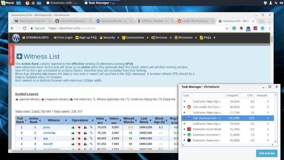 Browser, Chrome, SemperVideo, Kryptowährung, Mining