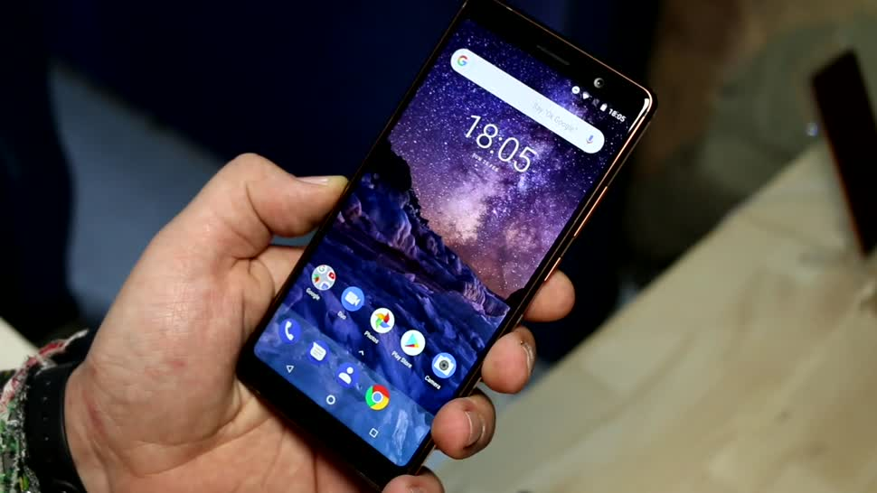 Smartphone, Android, Nokia, Test, Hands-On, Mwc, Hands on, Mobile World Congress, HMD global, HMD, MWC 2018, Mittelklasse, Specs, Nokia 7 Plus, Nokia 7