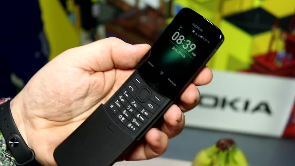 Android, Lte, Test, Hands-On, Mwc, Hands on, Mobile World Congress, Review, MWC 2018, Matrix, Banane, Nokia 8110 4g, Nokia 8110