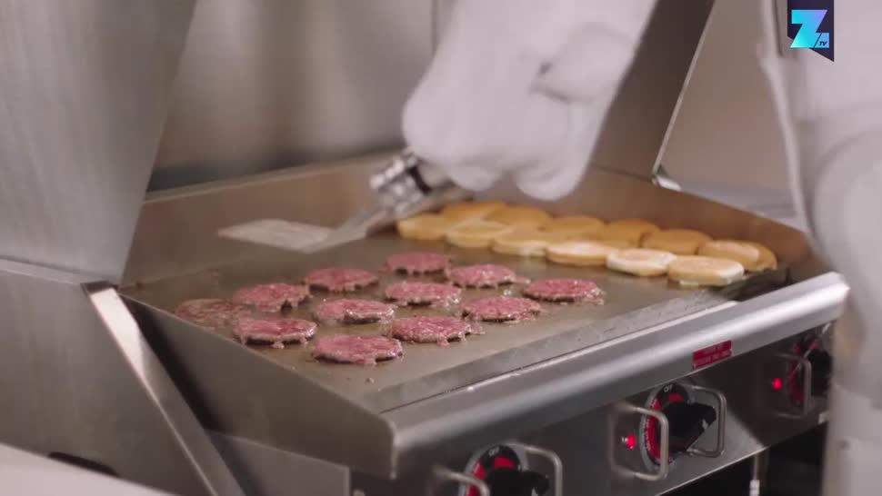 Zoomin, Roboter, Automatisierung, Kalifornien, Burger, Hamburger, Miso Robotic, Flippy