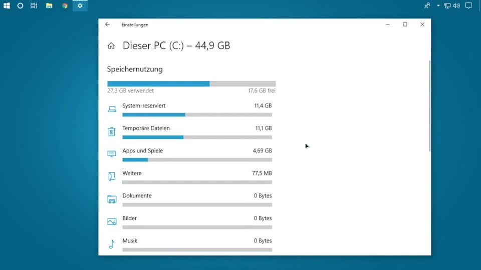 Microsoft, Betriebssystem, Windows 10, Speicher, SemperVideo, Belegung