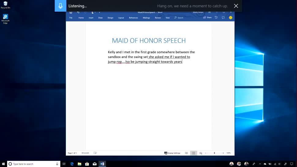 Microsoft, Betriebssystem, Windows, Windows 10, Spracherkennung, Spring Creators Update, Windows 10 Spring Creators Update, Diktieren, Dictation
