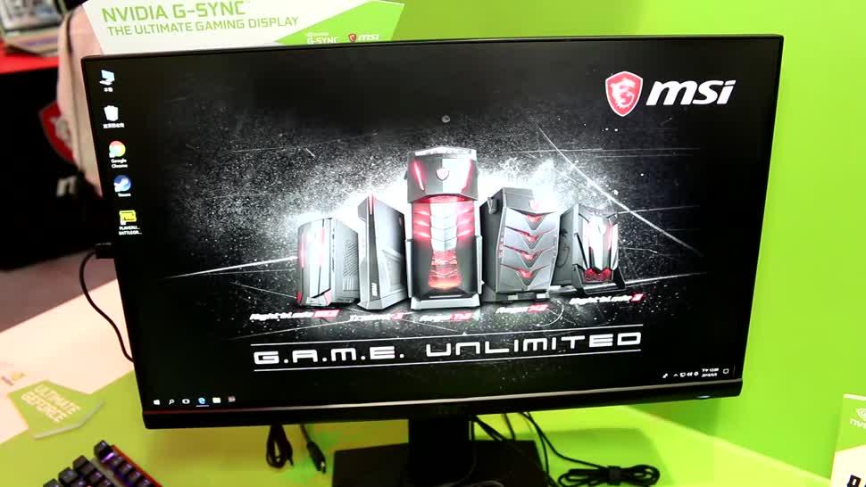 Gaming, Display, Computex, Monitor, Roland Quandt, Msi, Computex 2018, TN-Panel, Oculux NXG251