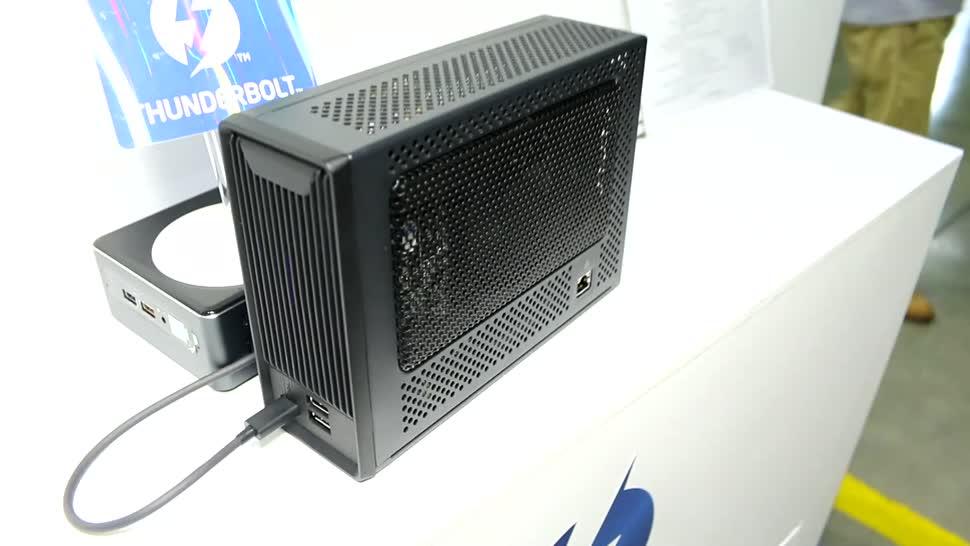 Pc, Hardware, Grafikkarte, Computex, Gehäuse, Computex 2018, Thunderbolt 3, TUL TBX-300FU, eGPU, eGPU-Gehäuse, Radeon RX 56 Vega, AMD Radeon RX 56 Vega Nano