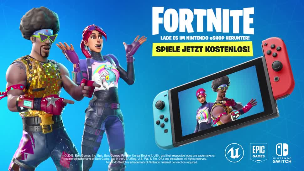 Trailer, Nintendo, E3, Nintendo Switch, Online-Spiele, Free-to-Play, Epic Games, Fortnite, E3 2018
