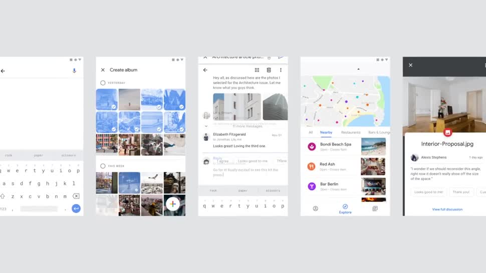 Google, Android, Apps, Design, Interface, Benutzeroberfläche, Material Design, Dienste