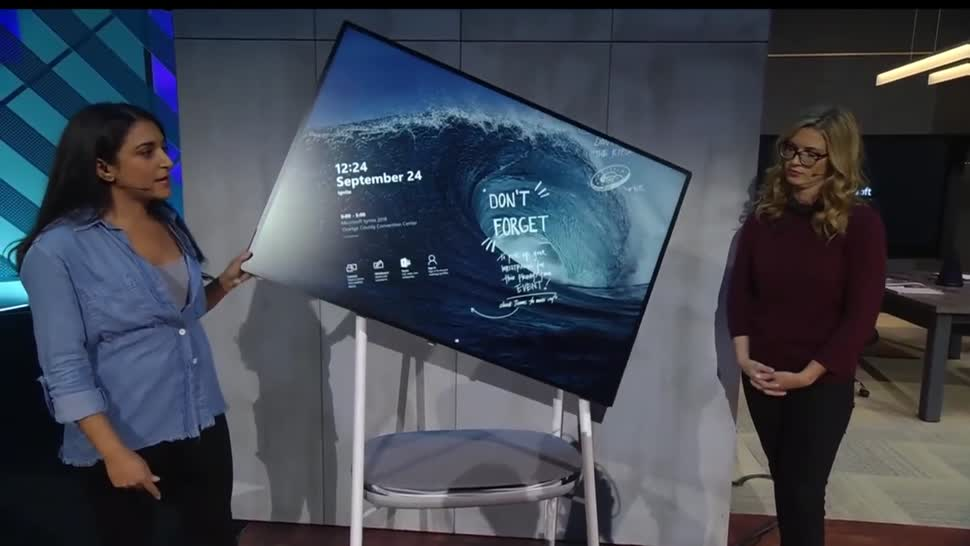 Microsoft, Betriebssystem, Windows, Windows 10, Office, Display, Bildschirm, Büro, Surface Hub, Ignite, Surface Hub 2