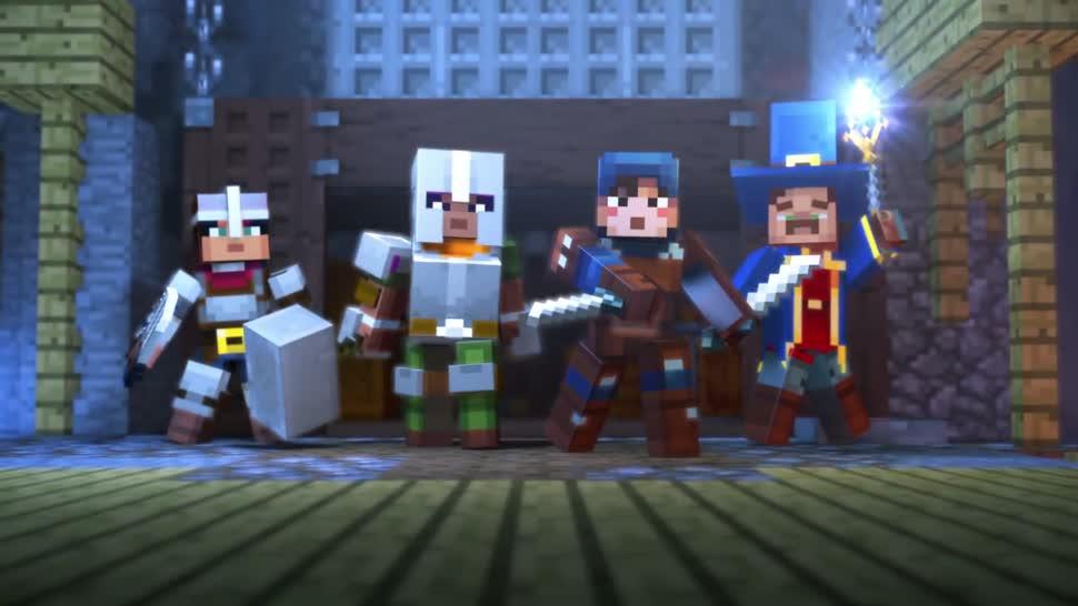 Microsoft, Trailer, Minecraft, Adventure, mojang, Minecraft: Dungeons