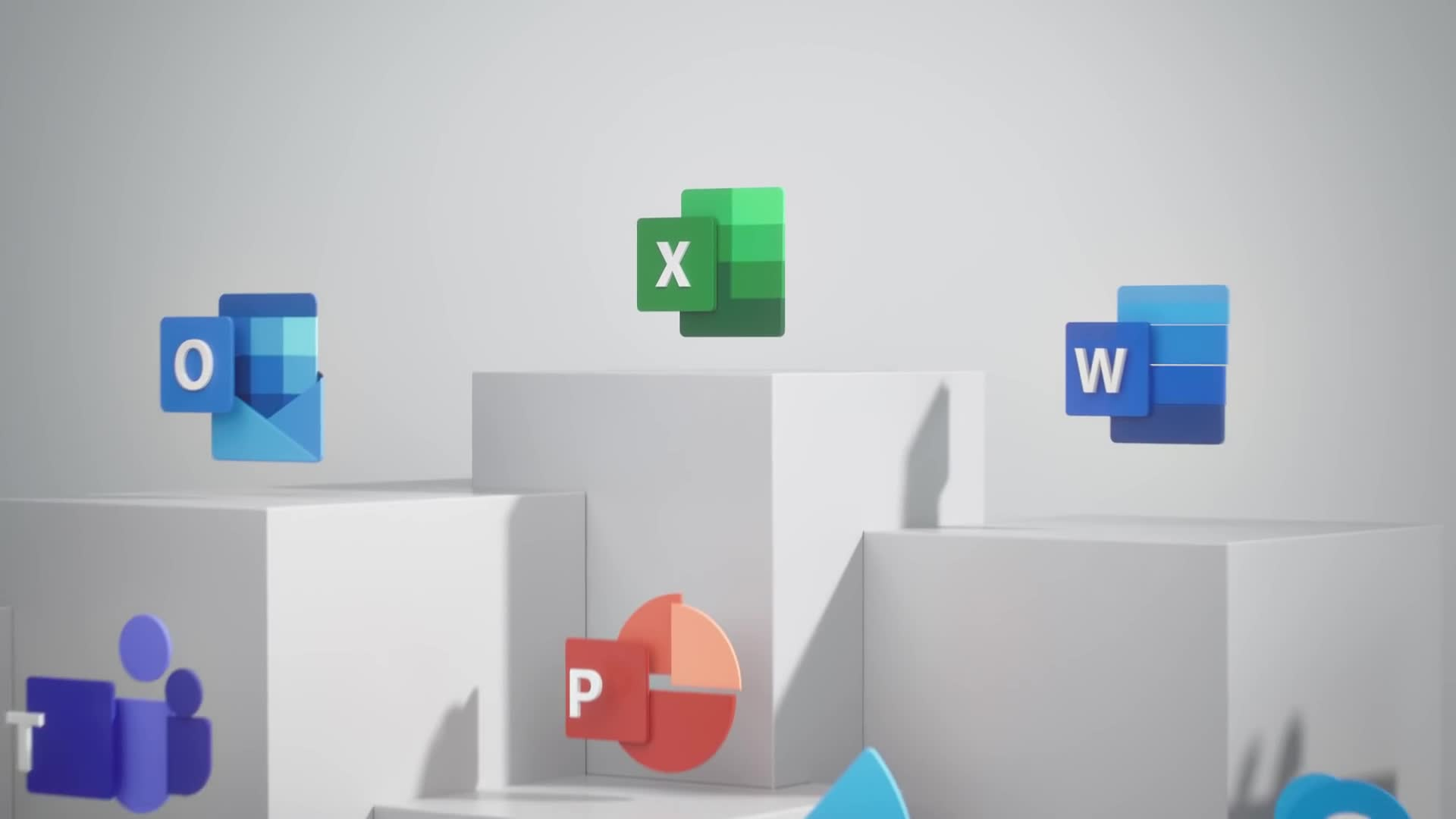 Microsofts neugestaltete Office 365 App-Icons zeigen sich