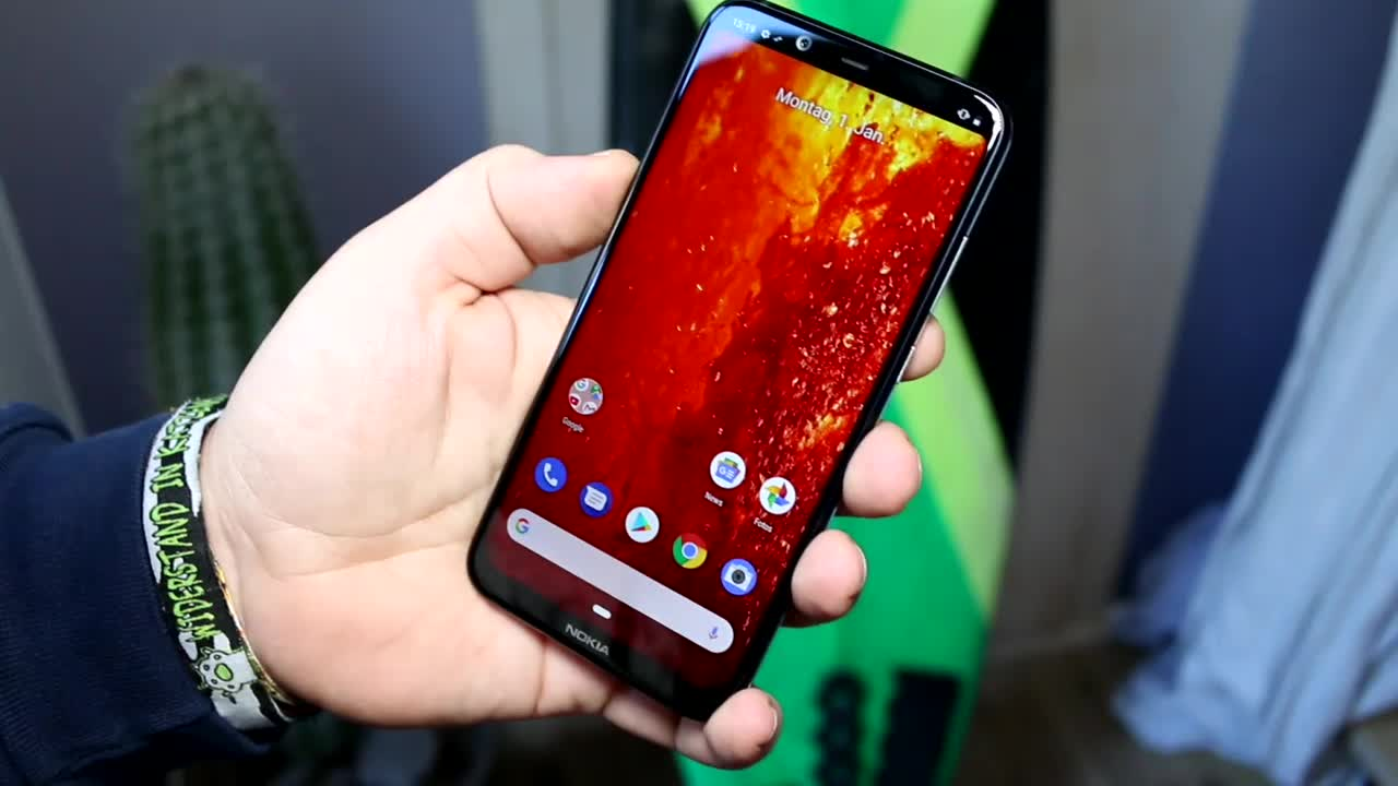 Smartphone, Update, Nokia, Test, Hands-On, Launch, Octacore, Hands on, Full Hd, notch, Review, Android 9.0, FHD+, Android 8.1, Mittelklasse, Android One, Premium, Qualcomm Snapdragon 710, Nokia 8.1