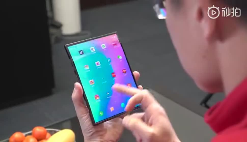Smartphone, Tablet, Xiaomi, Prototyp, Faltbares Smartphone, Faltbares Display, Lin Bin