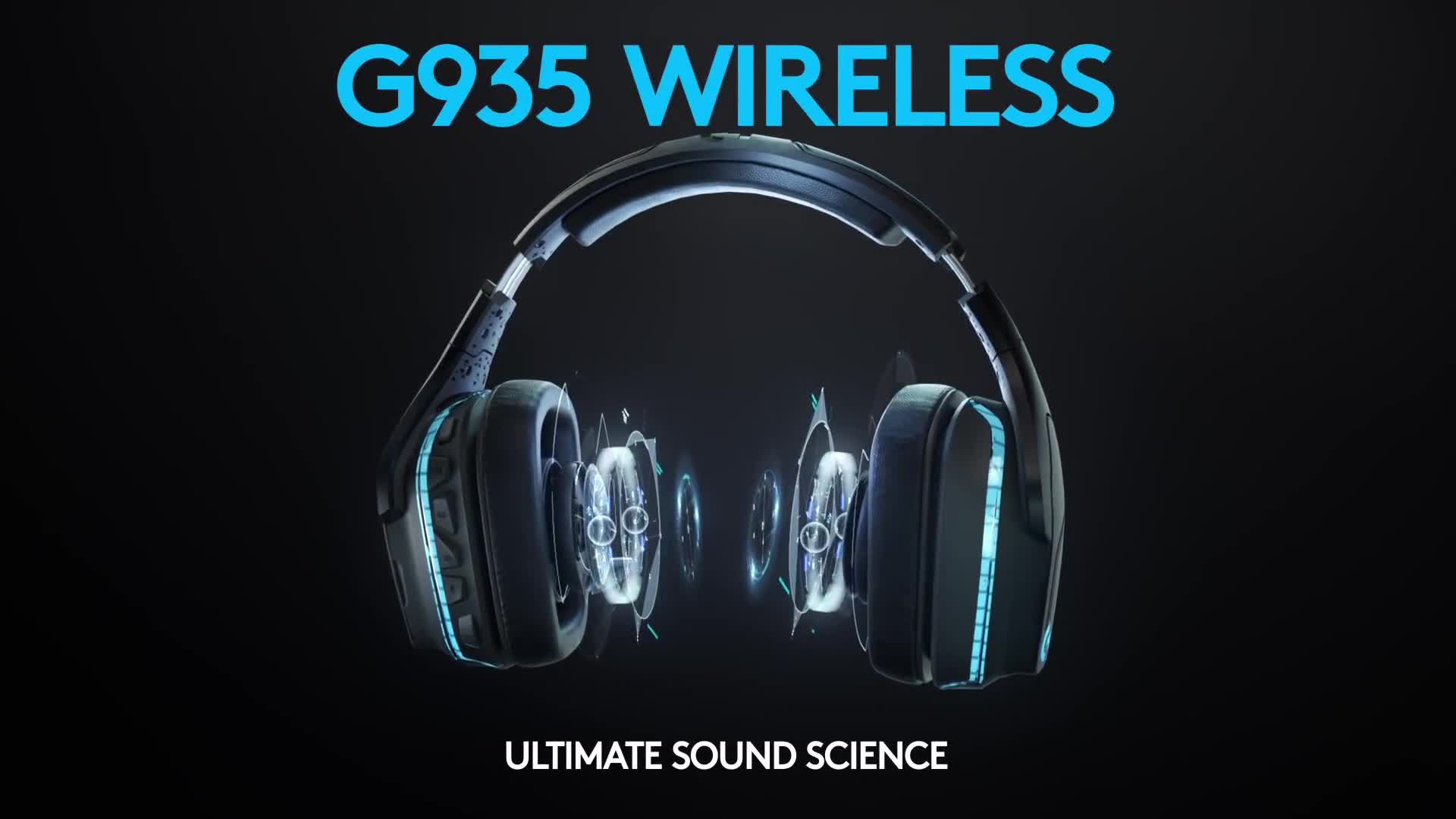Headset, Wireless, Logitech, Wireless Headset, Logitech G935, G935